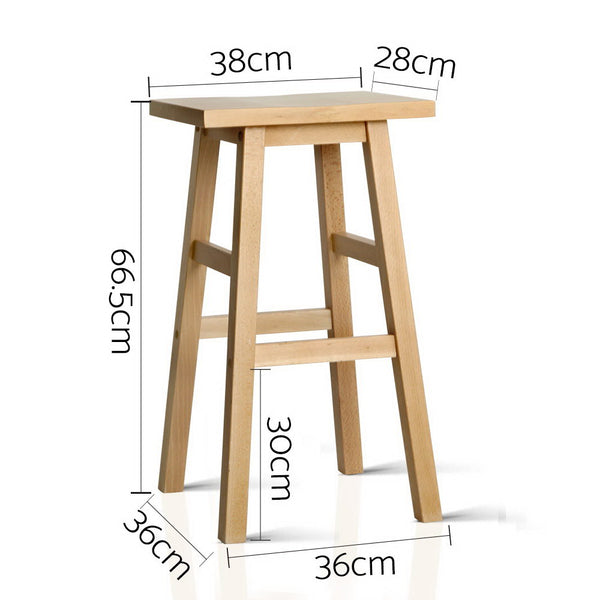 2 x Blair Wood Bar Stool (Natural) - Free Shipping - Darkhorse Creations