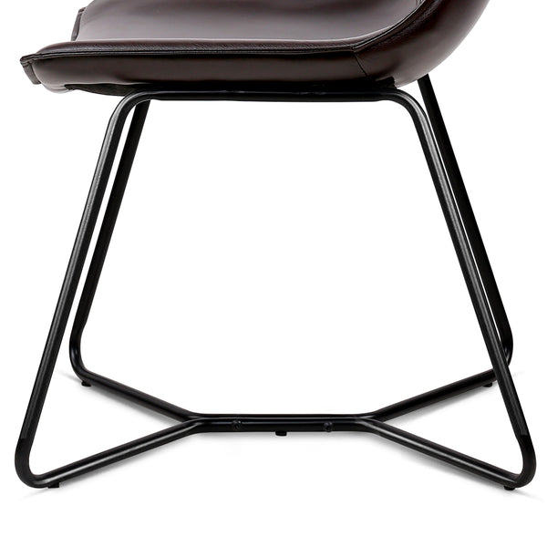 2 x Nico PU Leather Dining Chair (Walnut) - Free Shipping - Darkhorse Creations