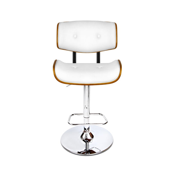 Cerato Bar Stool Gas Lift  (White) - Free Shipping