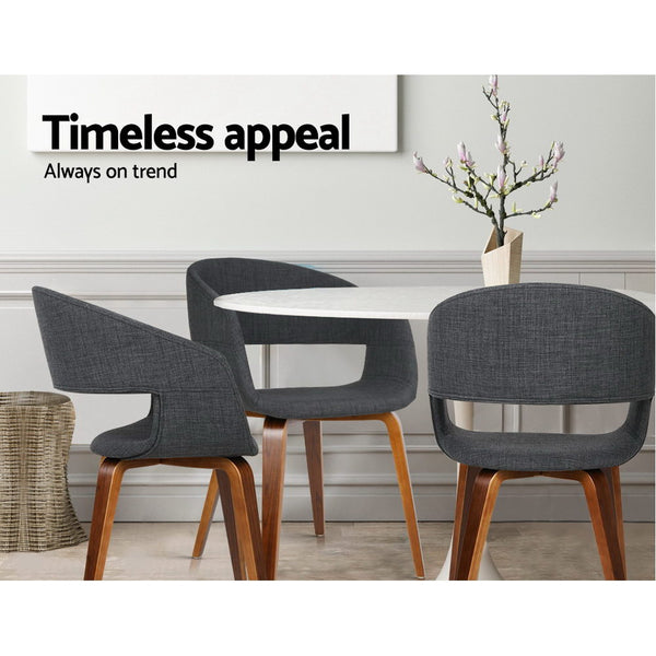 2x Sleek Dining Chairs (Charcoal) - FREE SHIPPING AUSTRALIA WIDE - Darkhorse Creations