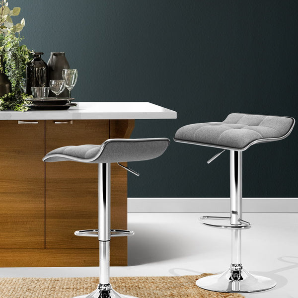 2x Contemporary Bar Stools grey