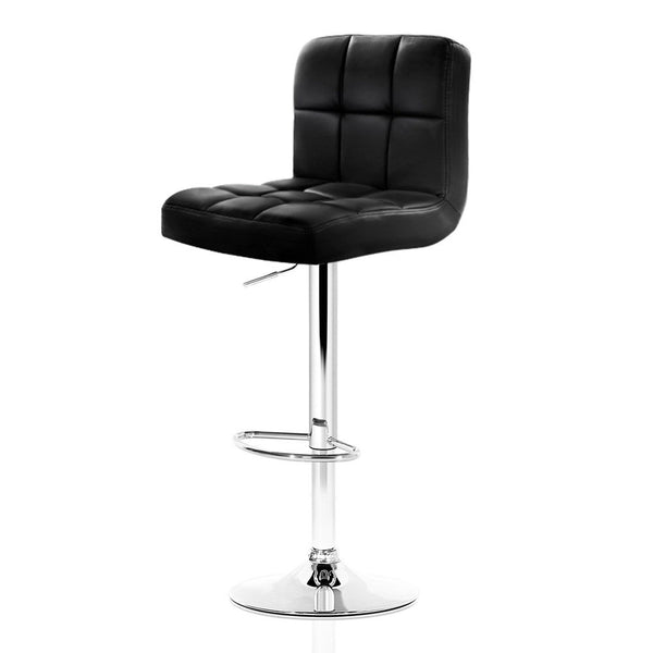 2 x Lani Swivel Bar Stool PU Leather (Black - Free Shipping - Darkhorse Creations