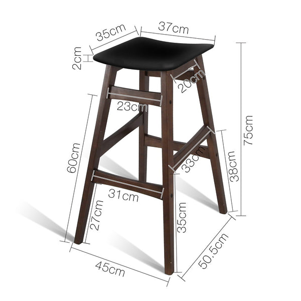 2x Wood Bar Stools - FREE SHIPPING AUSTRALIA WIDE - Darkhorse Creations