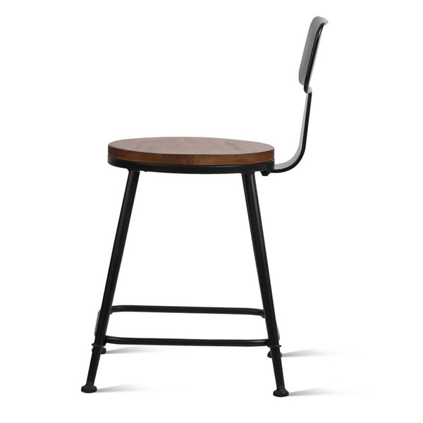 2 x Elmwood Industrial Dining Chairs - Free Shipping - Darkhorse Creations