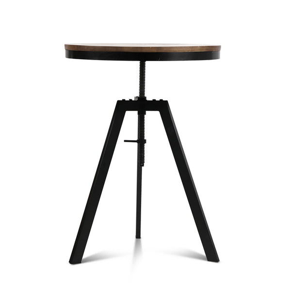 Elmwood Industrial Table (Adjustable Height) - Free Shipping - Darkhorse Creations
