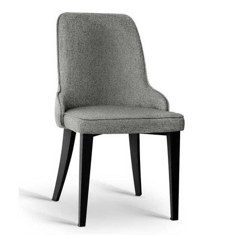 2x Contemporary Dining Chairs grey