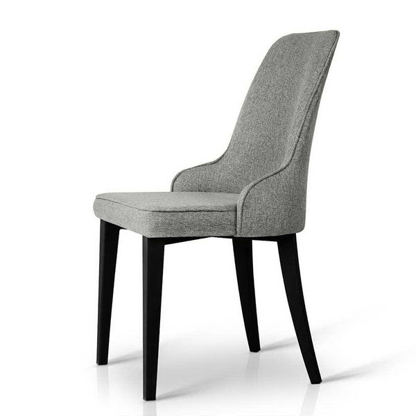 2x Contemporary Dining Chairs (Grey) - Darkhorse Creations