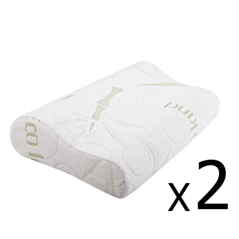 2 x Contour Memory Foam Pillow Bamboo Cover - Free Shipping - Darkhorse Creations