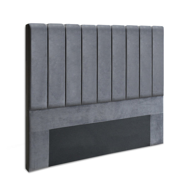 Tonic Velvet Bed Headboard Double Charcoal
