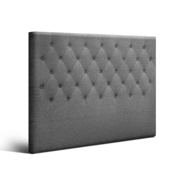 Linen Headboard Queen (Grey) - FREE SHIPPING - Darkhorse Creations