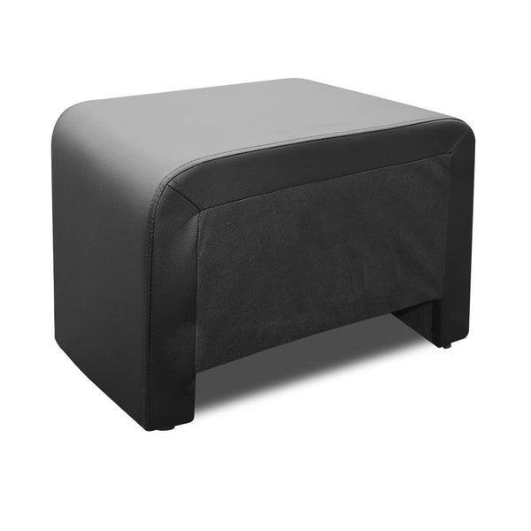 Fenton Bedside Table (Faux Leather Black) - Free Shipping - Darkhorse Creations