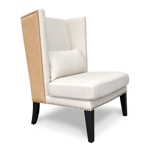 Victoria Winged Armchair  Classic Cream