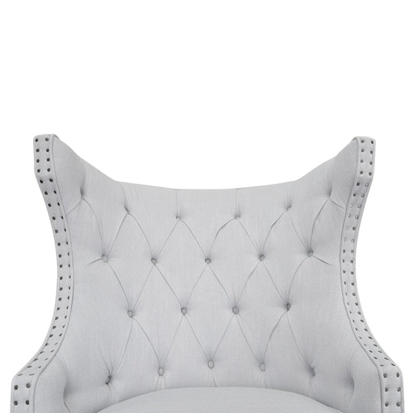 Duchess Winged Armchair  Soft Grey