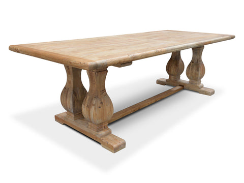 Chicago Reclaimed Elm Dining Table 3m Natural