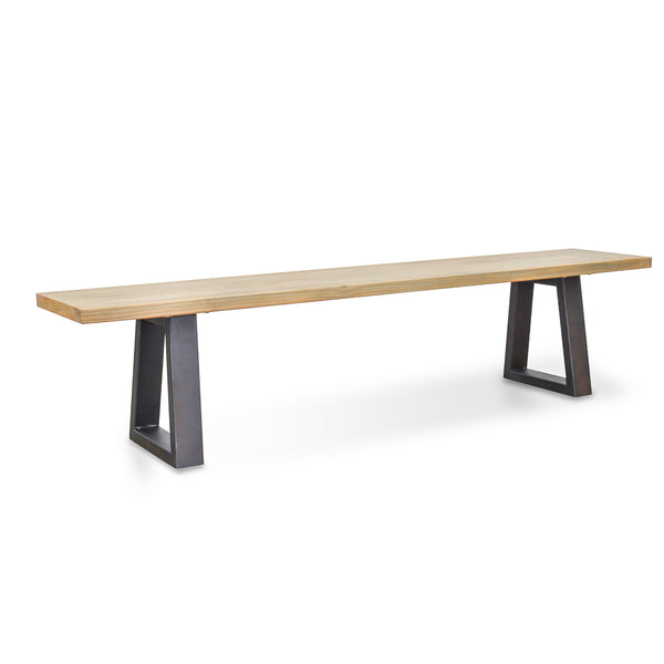 Reece Reclaimed Elm Bench Seat Natural and Black