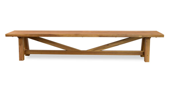 Vincent Acacia Indoor and Outdoor Bench Seat Natural