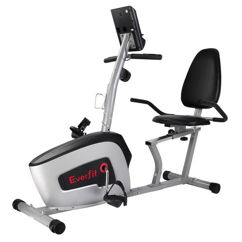 Everfit Magnetic Recumbent Exercise Bike Cycle Trainer Bicycle Home Gym Fitness