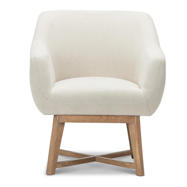 Linen Tub Chair (Beige) - FREE SHIPPING AUSTRALIA WIDE - Darkhorse Creations