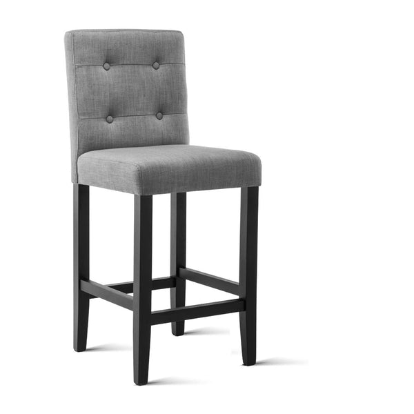 2x French Provincial Bar Stools (Grey) - Free Shipping