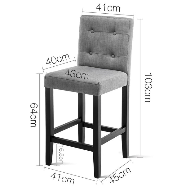 2x French Provincial Bar Stools (Grey) - Free Shipping - Darkhorse Creations