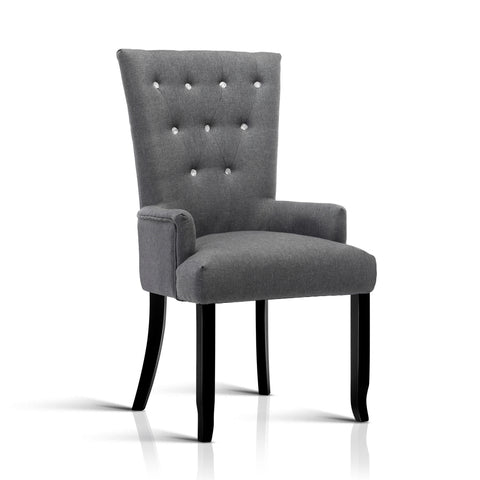 Cayes French Provincial Dining Chair  Grey