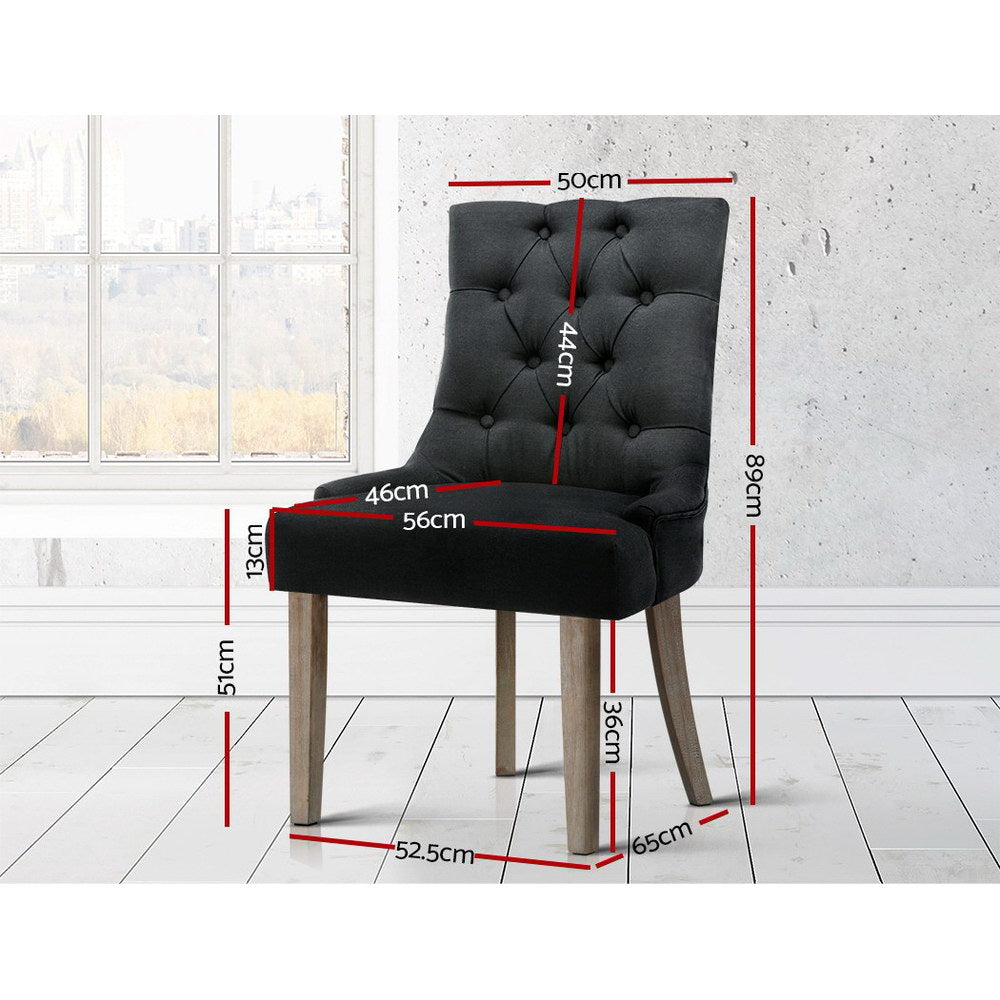 French Provincial Dining Chair Black Free Shipping – Darkhorse