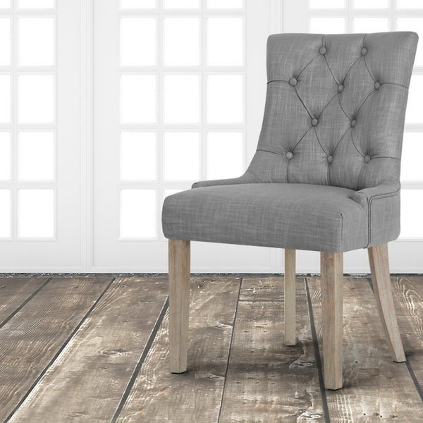 French Provincial Dining Chair (Dark Grey)- FREE SHIPPING AUSTRALIA WIDE - Darkhorse Creations