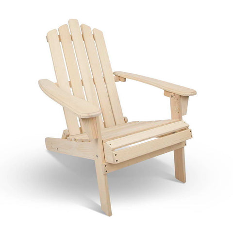 Adirondack Folding Wood Outdoor Deck Chair (Natural) - Free Shipping - Darkhorse Creations