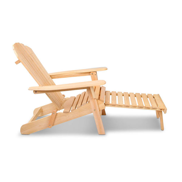 Adirondack Outdoor Chair & Ottoman Set - Free Shipping - Darkhorse Creations