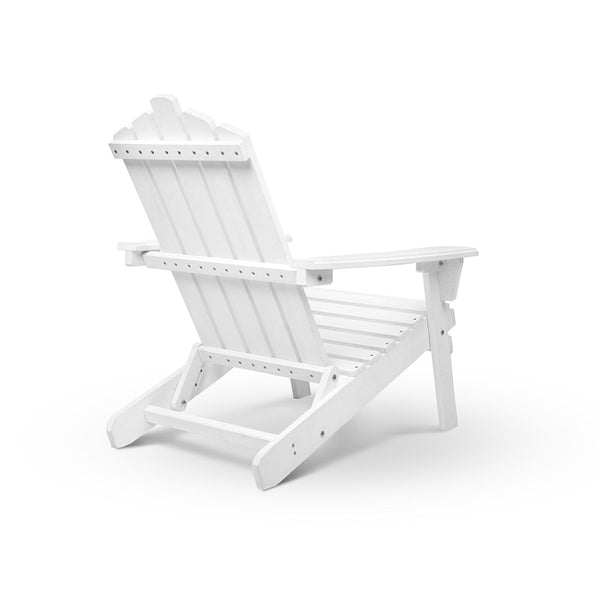 Adirondack Wood Outdoor Set 3 Piece (White) - Free Shipping - Darkhorse Creations