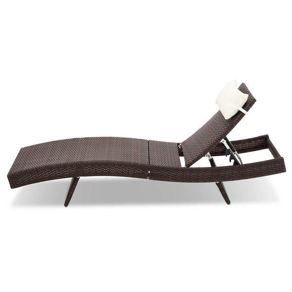 Outdoor Sun Lounge (Brown) - Free Shipping - Darkhorse Creations