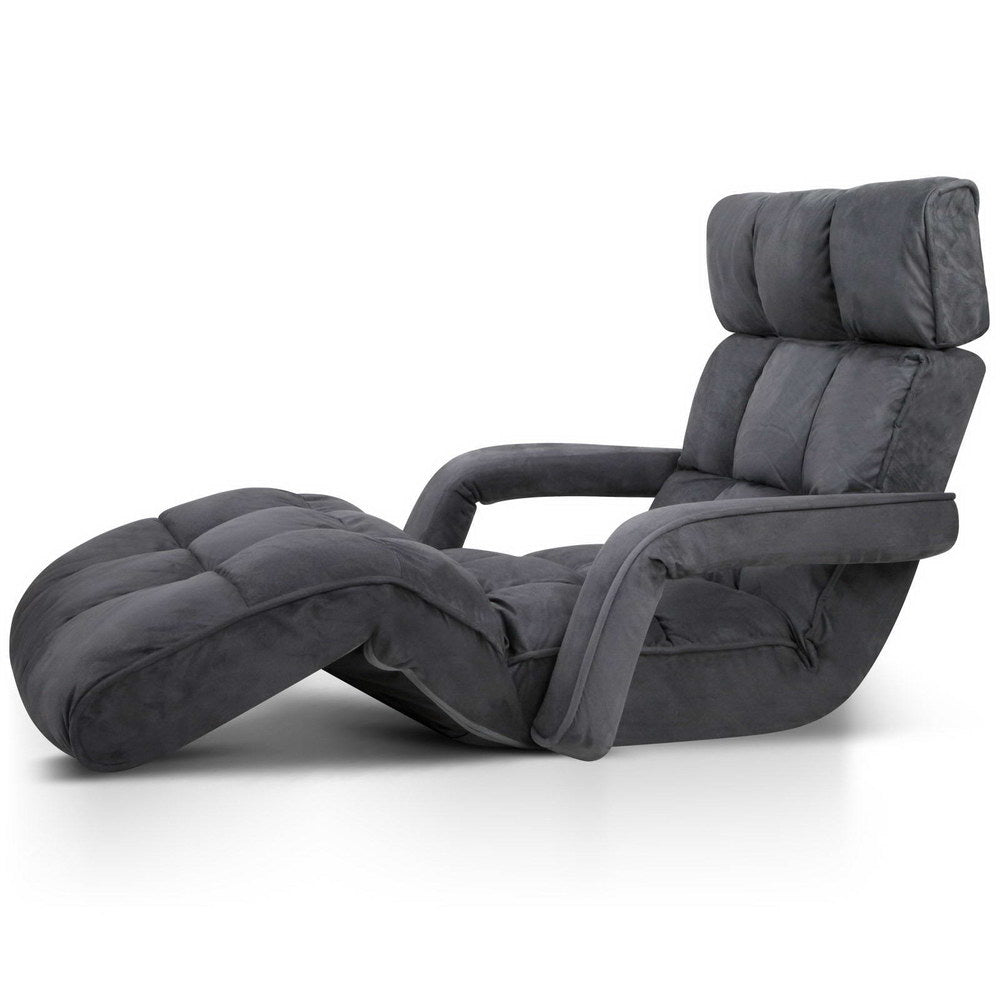 Caterpillar Adjustable Lounger  Single (Charcoal) - Free Shipping - Darkhorse Creations
