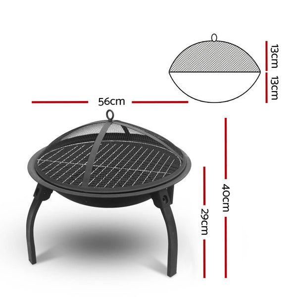 Detroit Foldable Outdoor Fire Pit 22 Inch