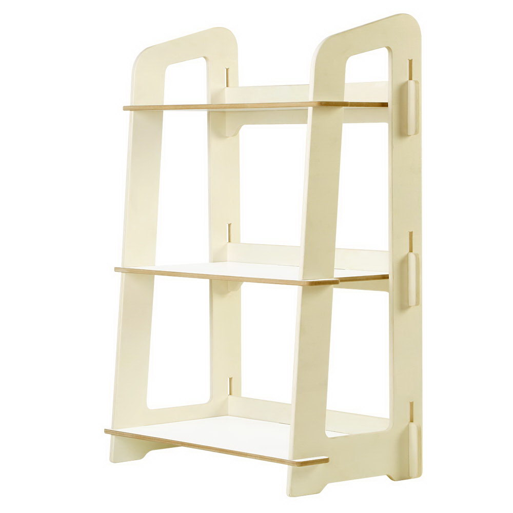 Kids Bookshelf Children Ladder Shelf Toy Display 3 Tier