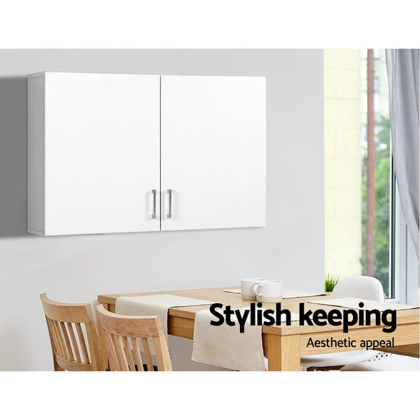 Bathroom Kitchen Bedroom Cabinet Storage Unit Cupboard Organizer White