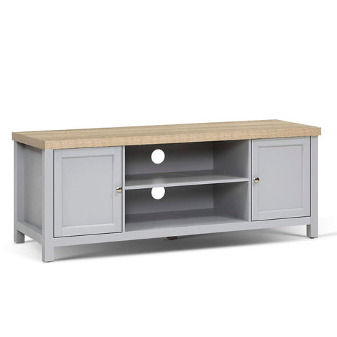 TV Cabinet Stand Entertainment Unit French Provincial Storage Shelf Grey Oak