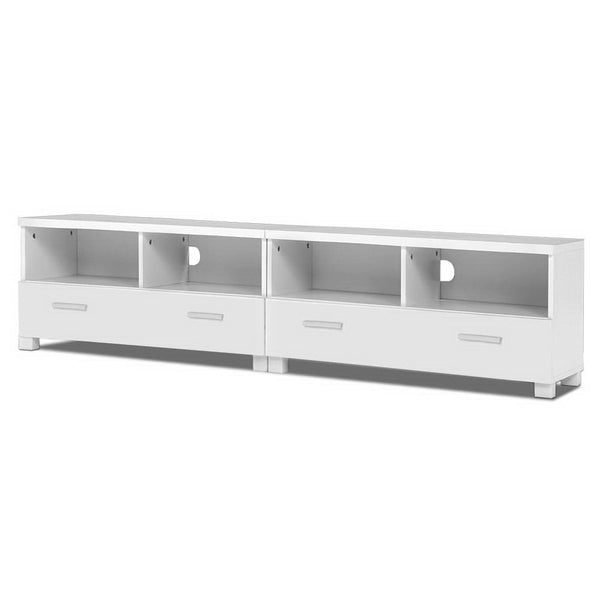 TV Stand Entertainment Unit with Drawers White - Darkhorse Creations