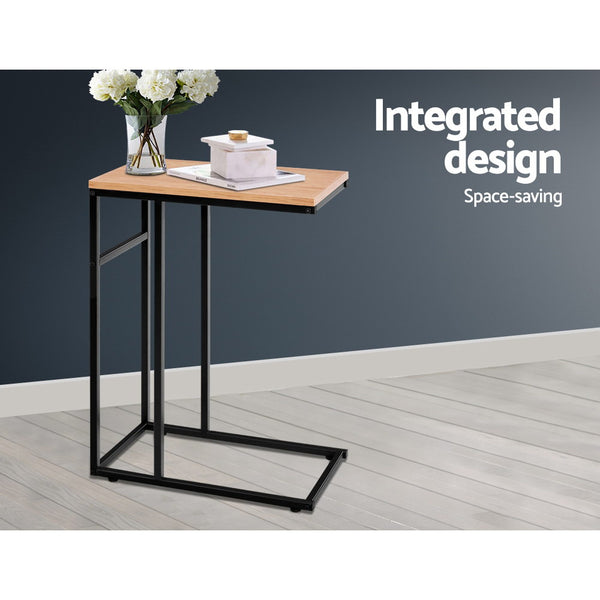 Coffee Side Table Laptop Desk Bedside Sofa End Tables Wooden Metal Frame