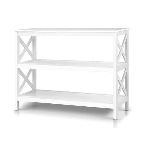 Oliver 2 Shelf Console White