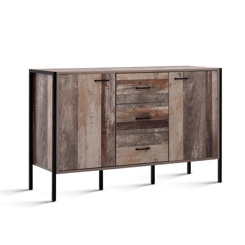 Zachery Sideboard (Natural / Black) - Free Shipping