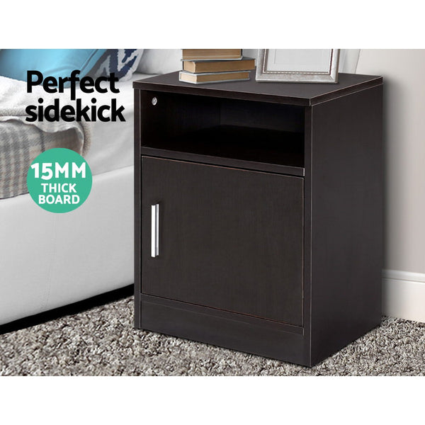 Bedside Table Cabinet Storage Side Nightstand Lamp Bedroom Chest Unit