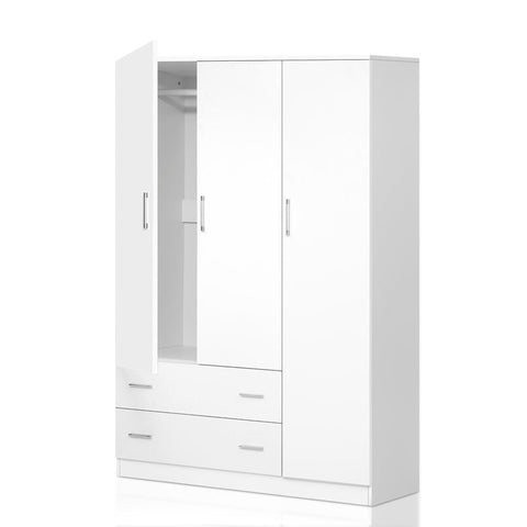 3 Doors Wardrobe Bedroom Closet Storage Cabinet Organiser Armoire 170cm