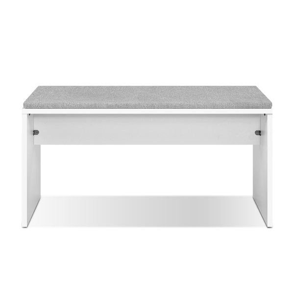 Dining Bench Upholstery Seat Stool Chair Cushion Furniture White 90cm