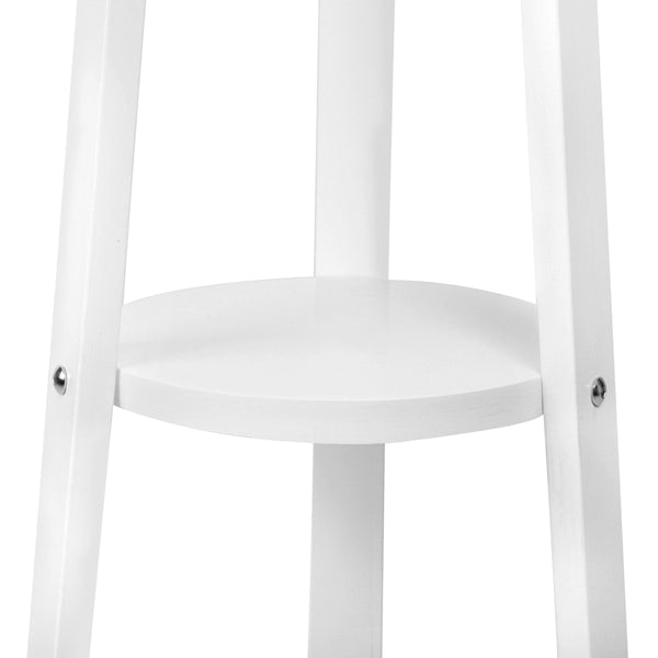 Wood Coat Stand White