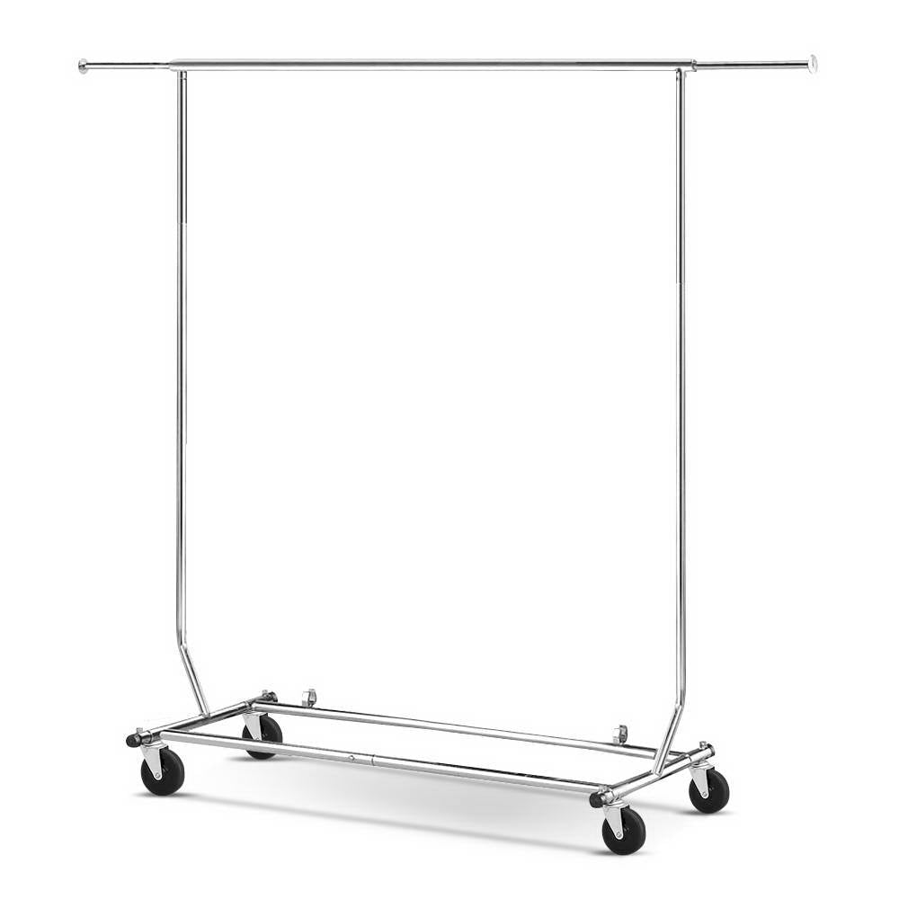 6FT Portable Garment Rack Clothes Hanger Stand Coat Display Rack