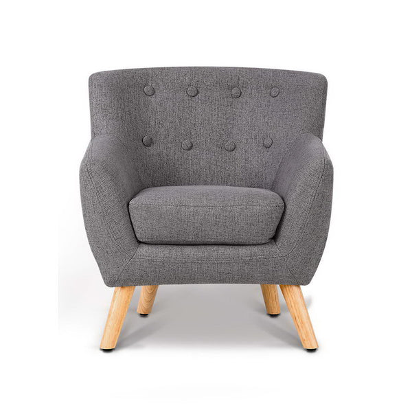 Millie Kids Armchair (Grey) - Free Shipping - Darkhorse Creations