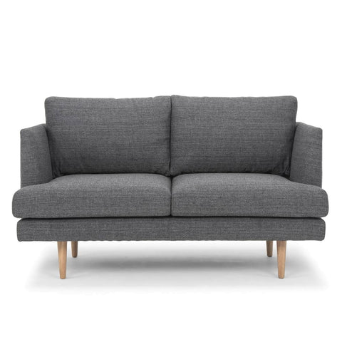Indiana 2 Seater Lounge Steel Grey and Oak