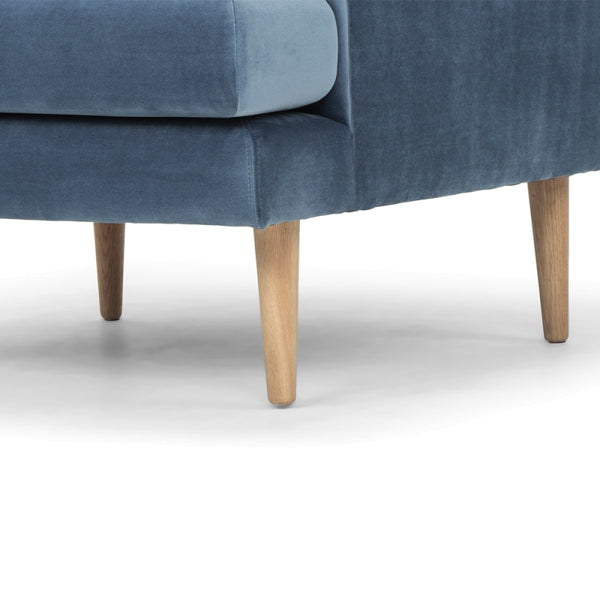 Indiana Armchair (Parisian Blue / Oak) - Free Shipping - Darkhorse Creations