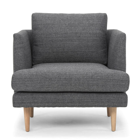 Indiana Armchair Steel Grey and Oak