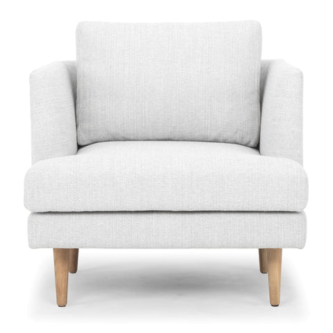 Indiana Armchair Steel Whisper Grey and Oak
